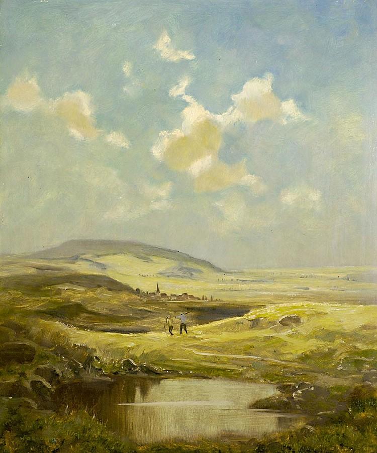 Gradl, Hermann Fränkische Landschaft mit Wanderern