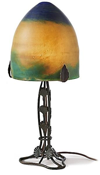 tischlampe muller fr res croismare a 20 jh. Black Bedroom Furniture Sets. Home Design Ideas