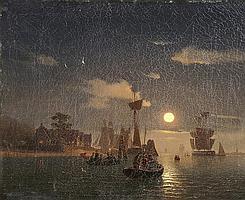 Mevius, Hermann-Mondscheinlandschaft mit