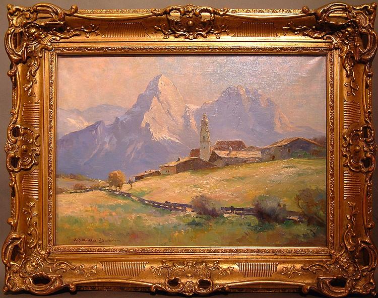 Müller-Schwaben, Fritz Dorf im Gebirge (Mainz