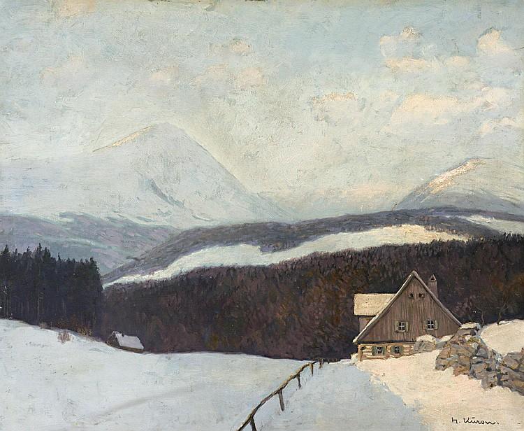 Kuron, Herbert Riesengebirge im Winter mit
