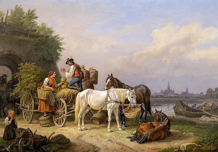 Klein, Johann Adam Rastende Fuhrleute (Nürnberg