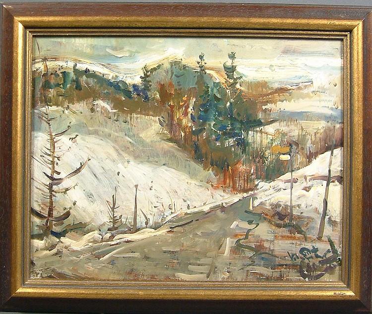 Finster, Herbert Verschneite Berglandschaft (Prien
