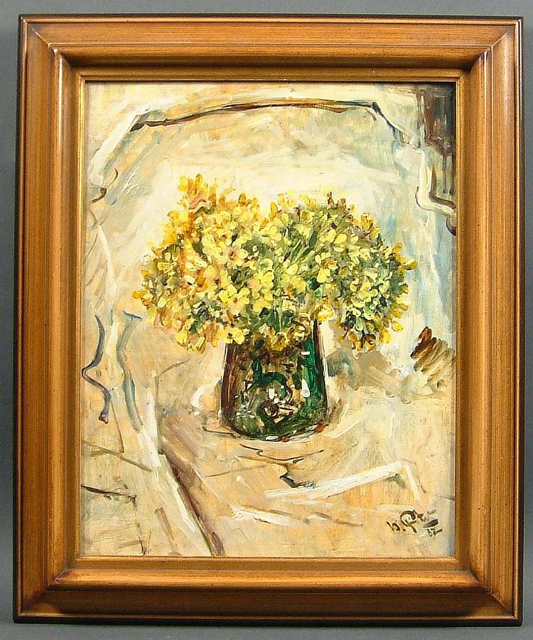 Finster, Herbert Schlüsselblumen in Vase (Prien
