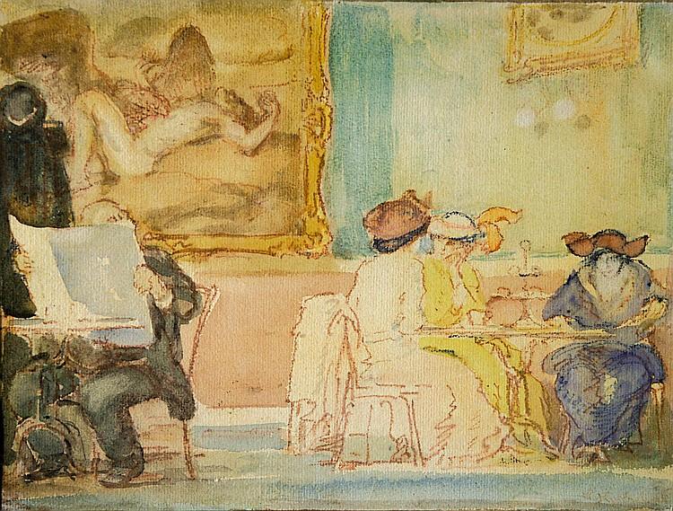 Kuschel, Max Im Kaffeehaus (Breslau 1862-1935)