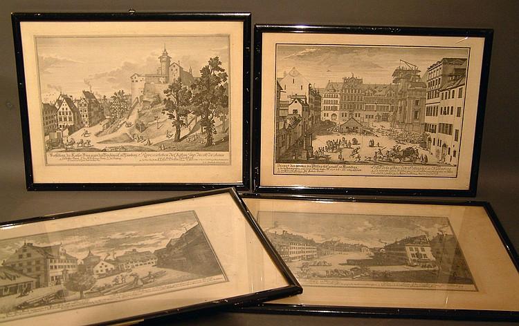 Nürnberg Vier Ansichten von Delsenbach