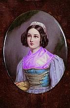 Bildplatte mit dem Portrait von Helene Sedlmayr -