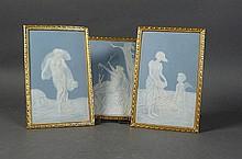 Drei Bildplatten - Limoges, um 1900 -