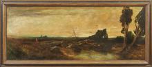 Stadler, Toni (Anton Hermann Ritter von), Weite Landschaft im Abendlicht