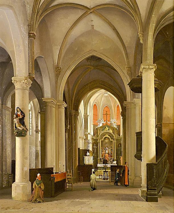 Ouvrié, Pierre Justin Kircheninterieur (Paris