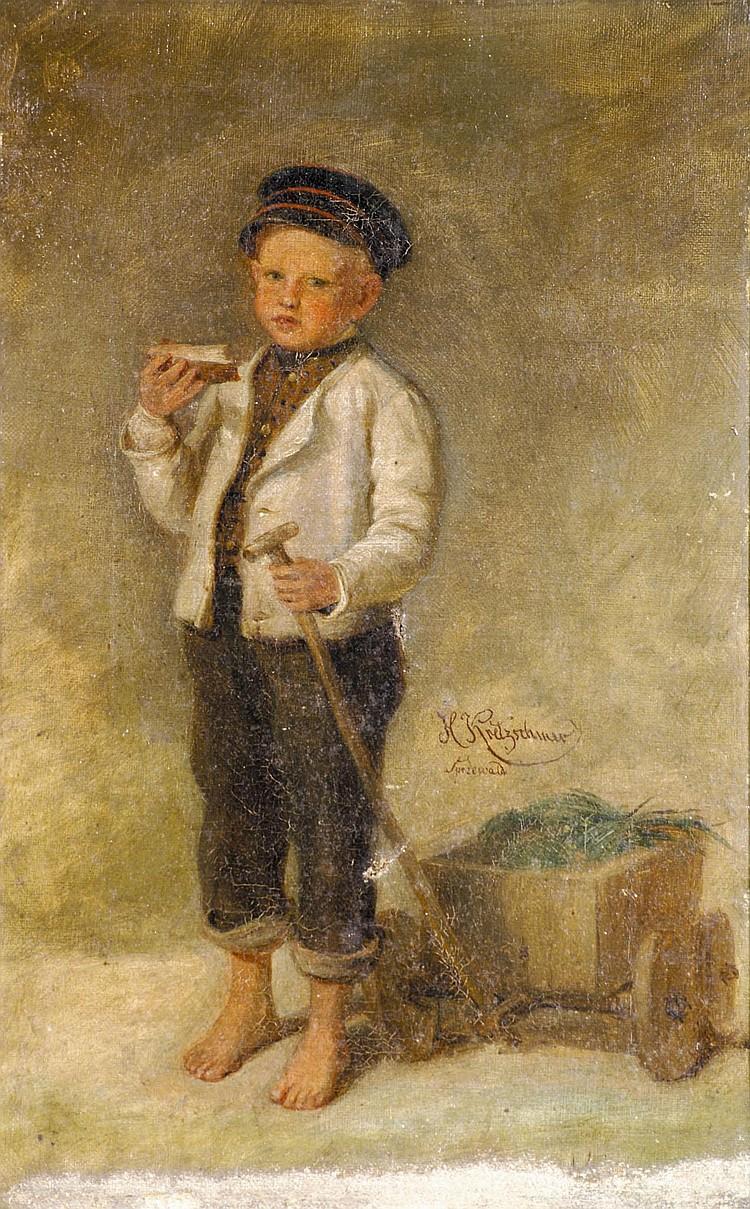 Kretzschmer, Johann Hermann Bub mit Butterbrot und