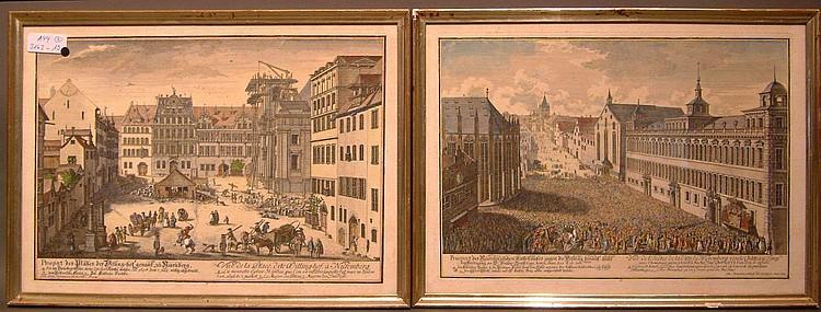 Delsenbach, Johann Adam Zwei Ansichten in Nürnberg