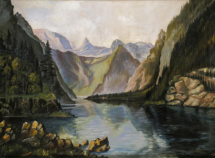 Bauer, Karlheinz Der Königssee vom Malerwinkel aus