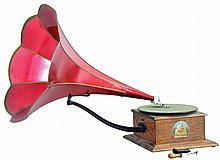 Gramophone by Hawthorne & Sheible, Philadelphia, and sold by O'Neill-James Co. of Chicago,
