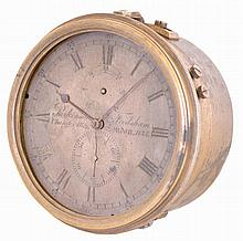 Parkinson & Frodsham, London, a two day marine chronometer movement and dial, with tub, serial #1135, for parts