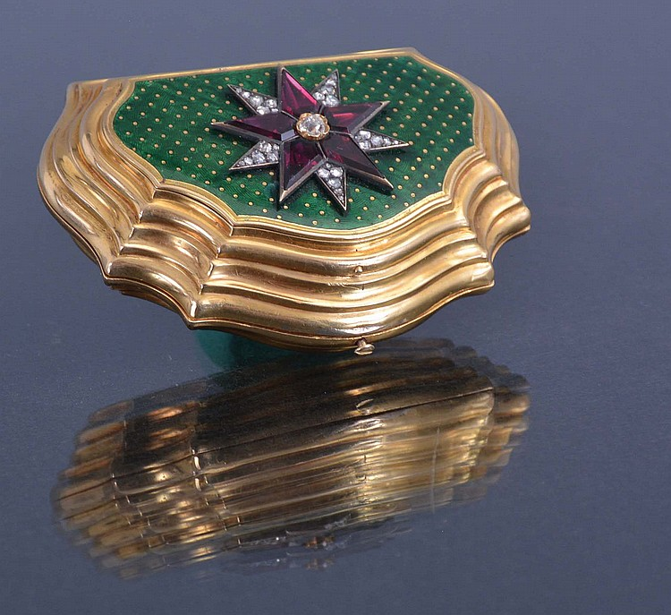 Rossel bautte cie a geneve an enameled and gem set 22 for Couture a geneve