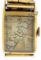 Le Coultre & Co., Switzerland, man's wrist watch, 17 jewels caliber 438/4, manual winding, straight line damascened, nickel plate movement, with lever escapement and monometallic balance in a 14 karat, yellow gold case, with Arabic numeral and dot