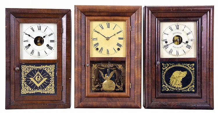 Sold Price Clocks 3 Three 1 Seth Thomas Clock Co Thomaston Conn 30 Hour Time And Strike Spring Brass Movement Kitchen Model Bevel Case Shelf Clock C 1870 2 Seth Thomas Clock Co