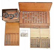 New old stock parts for the Elgin 600 marine chronometer, including 20 pillars, more than 200 fusee stop bars, 96 cannon pinions, 62 detent mounting blocks, and 35 mainsprings