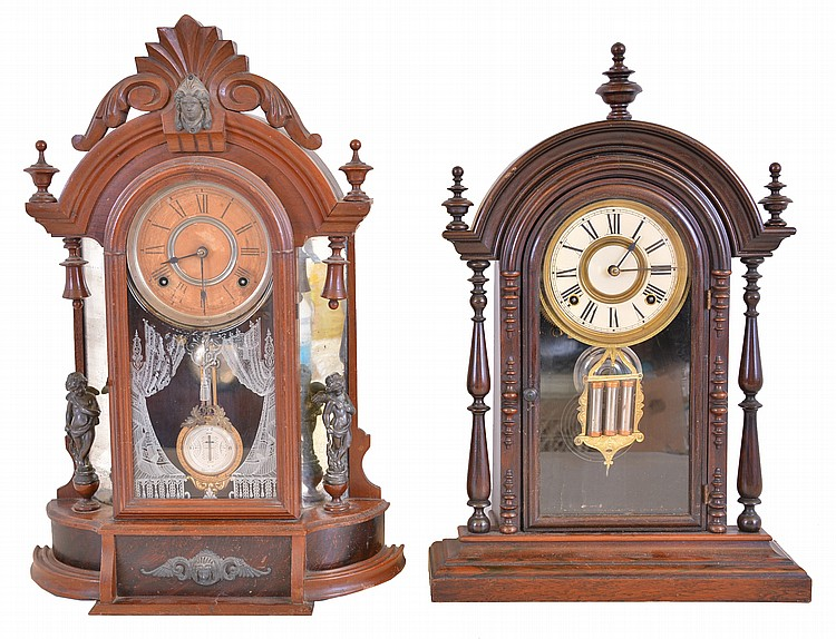 Clocks- 2 (Two): (1) Welch, Spring & Co., Forestville, Conn.,