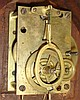 Horace Tift, North Attleboro, Mass., 8 day, weight brass movement Patent or banjo timepiece.
