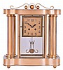 French, 8 day, time and strike spring brass movement Art- Deco crystal regulator mantel clock.