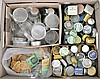 Large lot of pocket watch cases, bezels, and parts watches, dollar watches, plastic crystals, together with hundreds of parts containers, and more