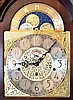 Tall Clocks- 3 (Three) Modern by Howard Miller and Sligh: (1) Sligh, broken arch top, three weight; (2) Howard Miller Shaker style, model #610- 627, two weight; (3) Sligh,