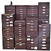 Flexo Crystals set, many metal drawer units of plastic wristwatch crystals
