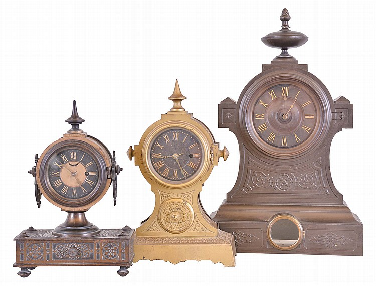 Clocks- 3 (Three): (1) American Clock Co., New York