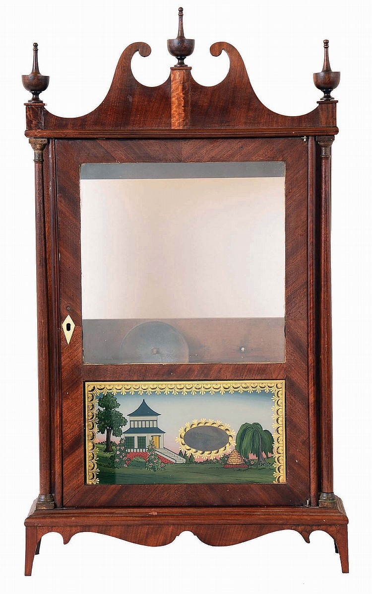 Seth Thomas Clock Co., Plymouth Hollow, Conn., Off- center pillar and scroll case (only).