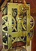Brewster & Ingrahams, Bristol, Conn., 8 day, time and strike spring brass movement 4- column sharp gothic or steeple clock.