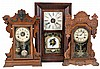 Clocks- 4 (Four) time and strike mantel and shelf clocks: Seth Thomas