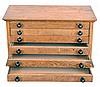 Six drawer watchmakers storage cabinet in oak