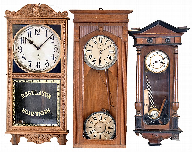 Clocks- 5 (Five): (1) Wm. L. Gilbert Clock Co., Winsted, Conn.