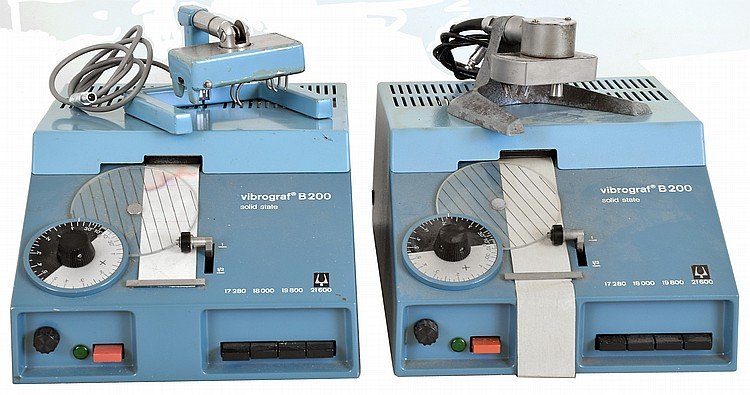 Vibrograph- 2 (Two) Swiss B200 solid state watch timing machines with pickups