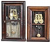 Clocks- 2 (Two): (1) E. C. Brewster, Bristol, CT 30 hour, time and strike spring brass and iron plate movement shelf clock, (2) E. C. Brewster, Bristol, CT 30 hour, time and strike spring brass and iron plate movement shelf clock.,