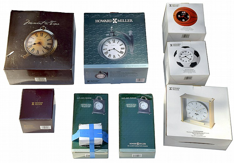 Clocks- 50 (Fifty) dealer inventory, many new in box and new old stock including, Sligh, Seth Thomas, Howard Miller, etc.