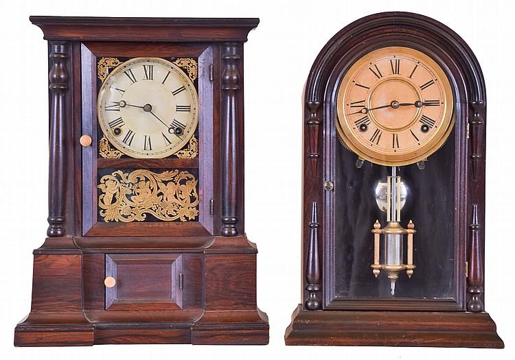 Clocks- 2 (Two): (1) Atkins Clock Co., Bristol, Conn.,