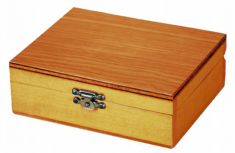 Switzerland, watchmakers tap and die set, 18 sizes, from.3mm to 1.2mm, with wooden storage box