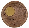 Chelsea Clock Co., Boston, Mass., 8 day, time and ship's bell strike spring brass movement wall clock. Serial No. 506988, 1947