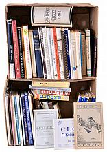 Books- nearly 60 (Sixty) American clocks hardcover and softcover books and booklets, most are classic and out- of- print: view photo to note authors including Willard, Ball, Bailey, Miller, Distin & Bishop, Palmer, Gibbs, Husher & Welch, Swedberg,