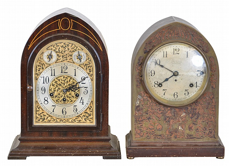 Clocks- 2 (Two): (1) Seth Thomas Clock Co., Thomaston, Conn.,