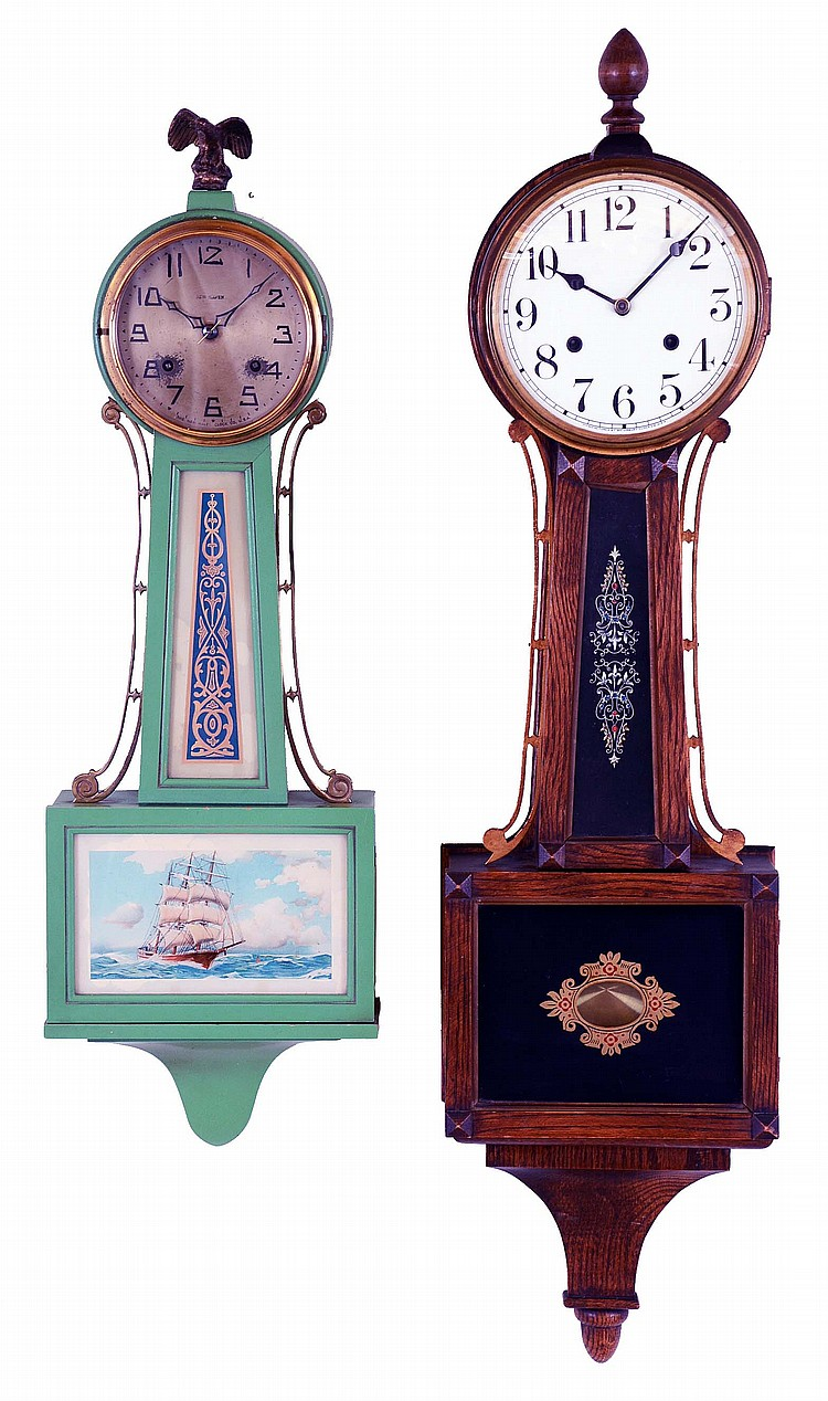 Clocks- 2 (Two): (1) New Haven Clock Co., New Haven, Conn.,