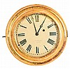 Clocks- 2 (Two) 8 day time only wall clocks: Waltham mirror clock with 37- size twin spring car clock movement, c1925 and an E. & A, Ingraham, Bristol, CT gilt wood gallery clock c1852