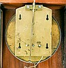 Clocks- 2 (Two) miniature unsigned, fancy grained veneer reproduction time only weight driven Vienna regulator wall clocks.