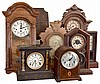 Clocks- 16 (Sixteen) wood case clocks with movements, mostly Connecticut, all mechanical except one plug- in GE electric