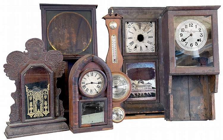 Clocks- 6 (Six): (1) Wm. L. Gilbert Clock Co., Winsted, CT,
