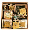 Lot of movements, mostly new old stock, including tall clock movements, Kieninger, Ergos, Hermle and one box of old movements including American and European, approximately 30 in all