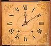 Ephraim Downs, Bristol, Conn 30 hour, time and strike weight wood movement pillar & scroll shelf clock.